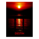 Destin Red Sunset Post Card