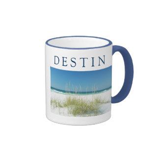DESTIN ~ Sea Oats Beach Sunny Day Ringer Coffee Mug