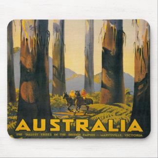 Destination Australia Travel Poster Mouse Pad