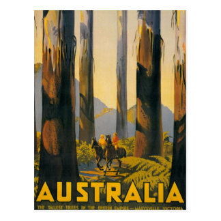Destination Australia Travel Poster Postcard
