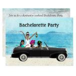 Destination Beach Wedding Bachelorette Party Card