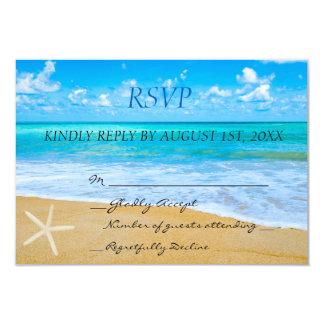 Destination Beach Wedding RSVP Card