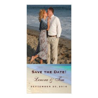 Destination beach wedding save the date card