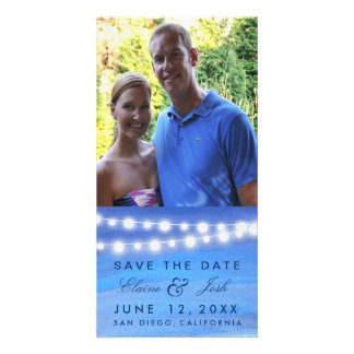 Destination beach wedding save the date photo cards