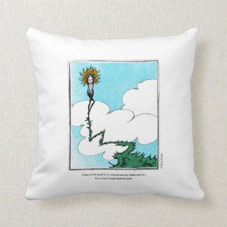 DESTINATION cartoon by Ellen Elliott Throw Pillow
