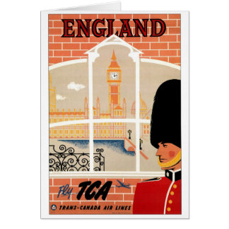 Destination: England Poster Vertical Greeting Greeting Card