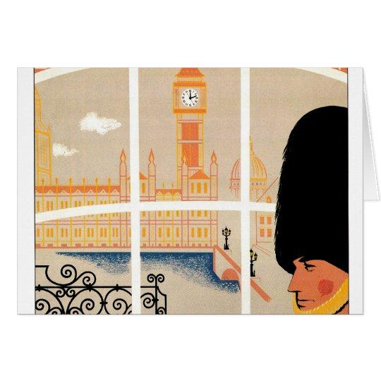 Destination: England Travel Poster Card
