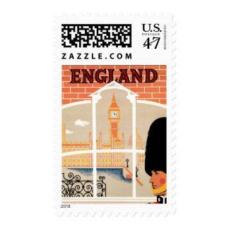 Destination: England Travel Poster Custom Postage
