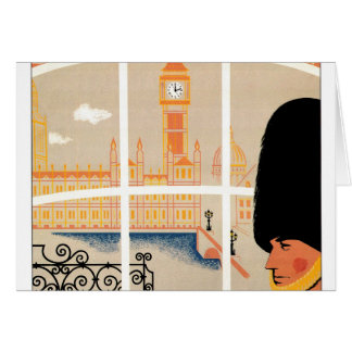 Destination: England Travel Poster Greeting Card