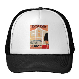 Destination: England Travel Poster Trucker Hat