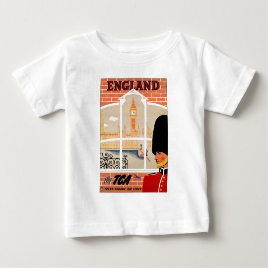 Destination: England Travel Poster Infant T Baby T-Shirt