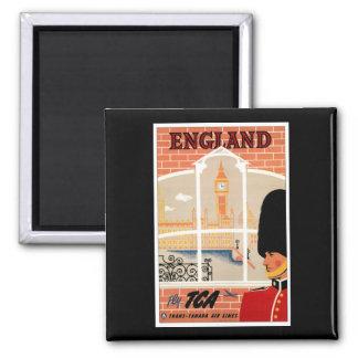 Destination: England Travel Poster 2 Inch Square Magnet
