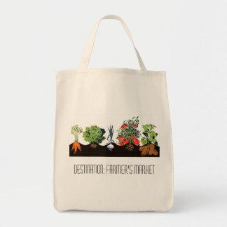 Destination: Farmer's Market Grocery Tote Bag