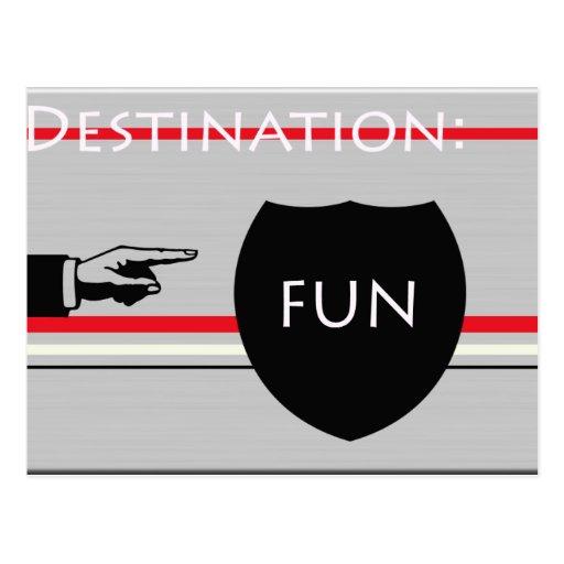 Destination fun postcard