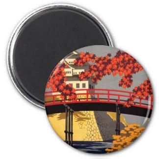 Destination: Japan Travel Poster Round magnet