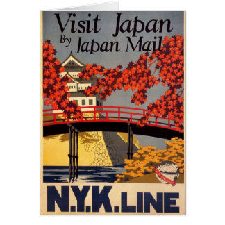 Destination: Japan Travel Poster Vertical Greeting Greeting Card