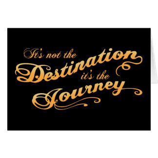 Destination Journey -txt Card