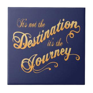 Destination Journey -txt Ceramic Tile
