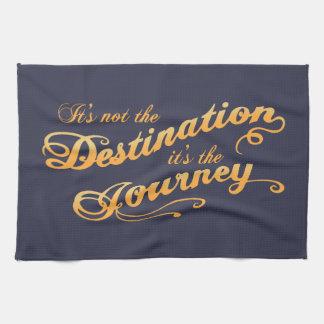 Destination Journey -txt Hand Towel