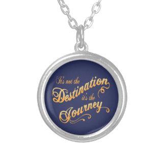 Destination Journey -txt Silver Plated Necklace