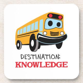 DESTINATION KNOWLEDGE BEVERAGE COASTERS