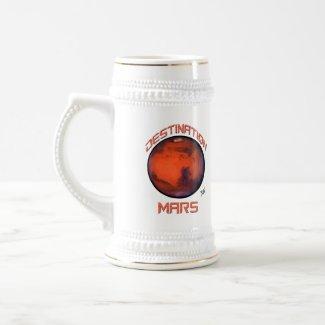 Destination Mars Beer Mug