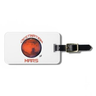 Destination Mars Luggage Tag