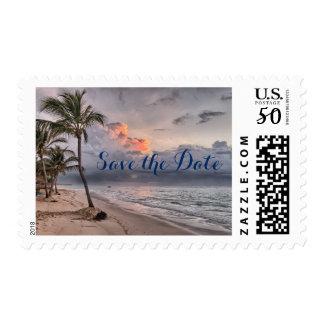 Destination Ocean Beach Wedding Save the Date Postage