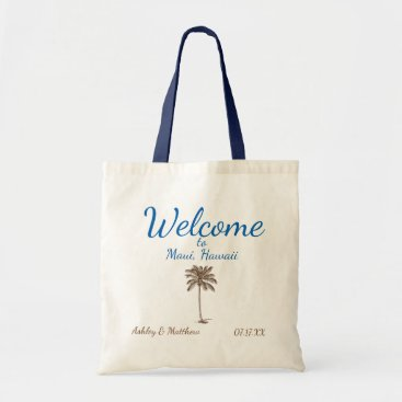 Beach Themed Destination Palm Tree Welcome Bag