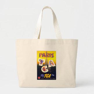Destination Paris Canvas Tote Canvas Bag