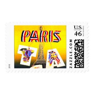 Destination Paris stamp