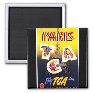 Destination Paris Square Magnet