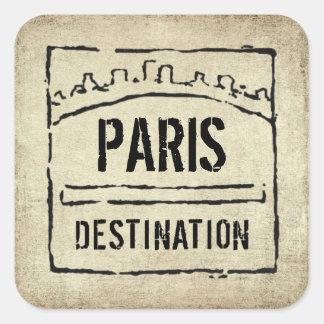 Destination Passport Stamp Sticker
