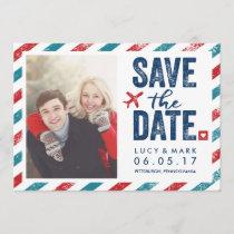 Destination Postal Theme Wedding | Save the Date