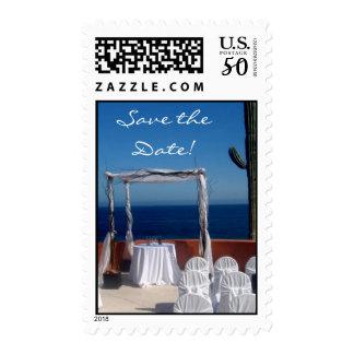 Destination save the date postage