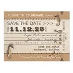 destination save the date seahorses postcards