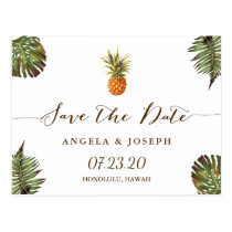 Destination Save the Date | Tropical Pineapple Postcard