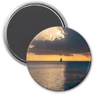 Destination: Sunset 3 Inch Round Magnet
