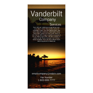 Destination Sunset Over the Water Tree Rack Card