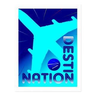 DestiNation travel postcard