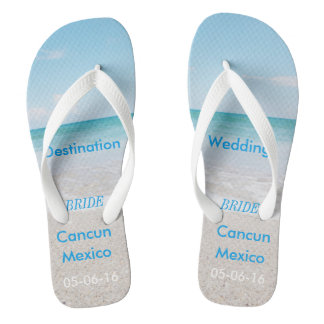 Destination Wedding Beach Sandals Flip Flops