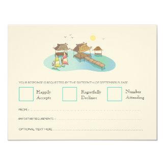 Destination Wedding Beach Windsurfing RSVP Cards