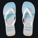 """Destination Wedding BRIDE Beach Sandals<br><div class=""""desc"""">Destination Wedding BRIDE Beach Sandals / Flip Flops with Personalized Wedding Date & Destination</div>"""