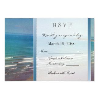 Destination Wedding DIY RSVP 3.5x5 Paper Invitation Card