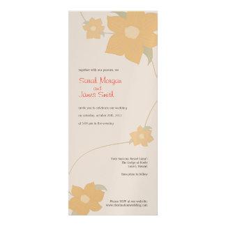 Destination Wedding Invitation flower illustration