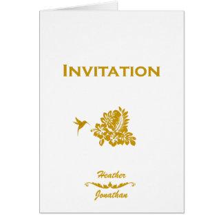 Destination Wedding Invitation Passport & Hibiscus