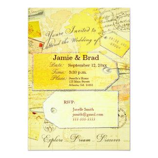 Destination Wedding Invitation Theme in yellow