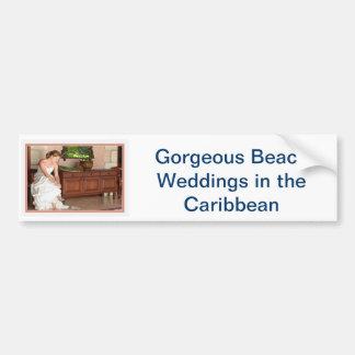 Destination Wedding Invitations Bumper Sticker