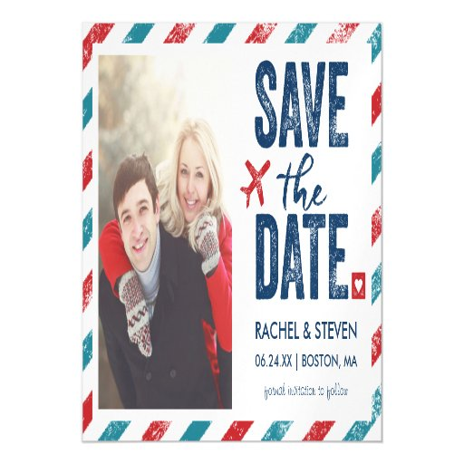Destination Wedding Magnet Save The Date Magnetic Card Zazzle