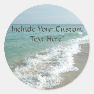 Destination Wedding Ocean Waves Envelope Seal or Stickers